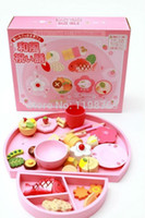 Wholesale Children Wooden Tea Set - Wholesale-High Quality Baby Toys Nice Gifts for Girls Afternoon Tea Set Children Wooden Toys DT136 Free Shipping