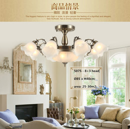 Wholesale 2015 Big Discount American Modern Led Simple Iron Pendant Chandelier Europe Pastoral Frosted Glass For Living Room