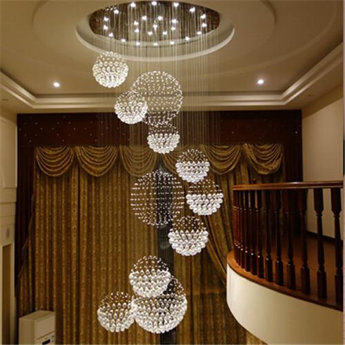 Wholesale modern big hall chandelier lighting crystal ball hanging see larger image aloadofball Image collections