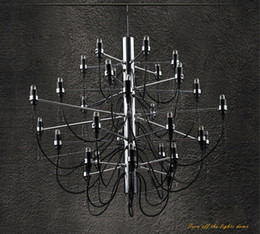 Wholesale Gino Sarfatti Chandelier - Wholesale-American Country Style Wrought Iron Chandelier Arteluce Gino Sarfatti designed Chandelier 30 bulbs lamp#DD162-1