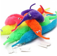 Wholesale Cheap Pussy Toys - Wholesale-No box 1 pieces bag package magic trick Twisty Worm for children cheap kids cartoon animals toys Bile pussy mr fuzzy dolls