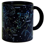 Wholesale Personality Pieces - Wholesale-Free Shipping 1 Piece Creative Constellations Mugs Cup Heat Activated Color Changing Astronomy Physics Science Ceramic Cup