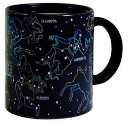 Frete Grátis-Frete Grátis 1 Peça Constelações Criativas Canecas Copo Calor Cor Ativado Mudança Astronomia Física Ciência Copo De Cerâmica de