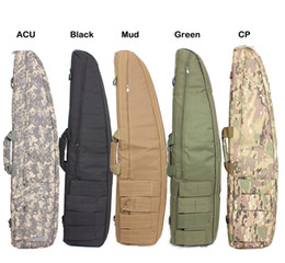 Wholesale Gun Case Bag Rifle - Wholesale-New Tactical Heavy Duty Tactical Gun slip Bevel Carry Bag Rifle Case shoulder pouch for Hunting