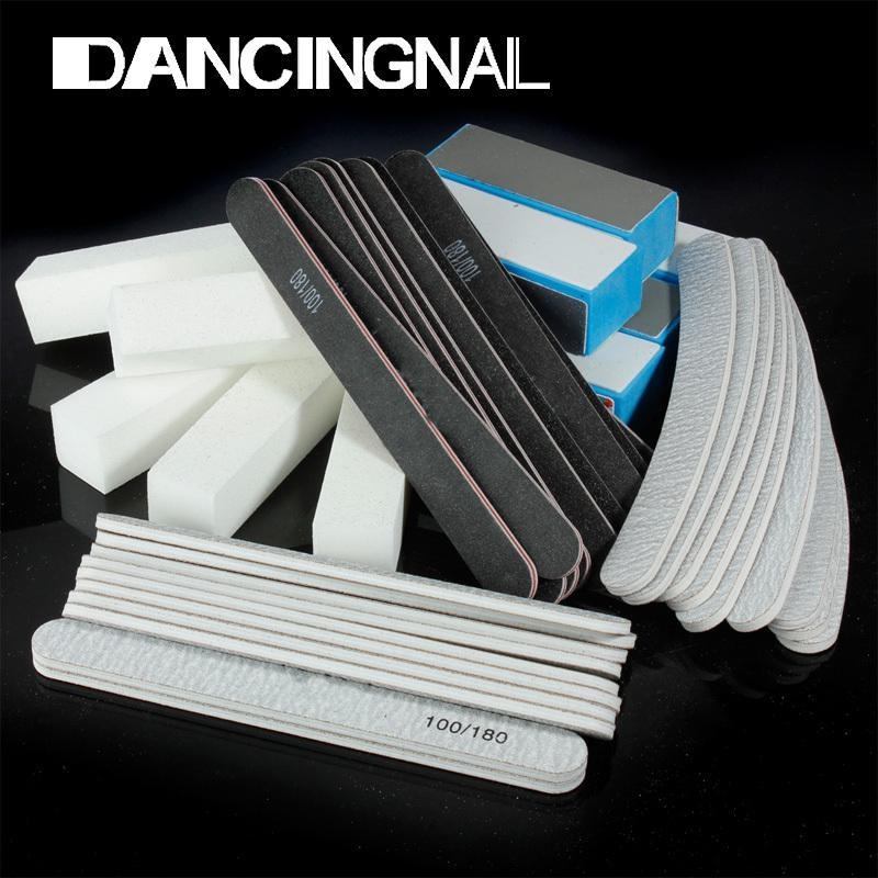 Wholesale-Free Shipping 40PCS Nail Art Sanding Files Buffer Block Manicure Pedicure Tools Sand Paper Foam UV Gel Set