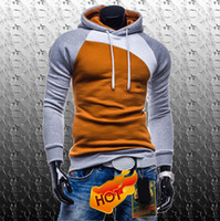 Wholesale Colour Matching Clothes - Wholesale-Spring Fashion New Sweatshirts Jacket,Colour matching Outerwear Hoodied Clothing Men.Outdoor Coat Men,Boys Sports Suit Loves it
