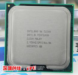 Wholesale Desktop Cpu 775 Socket - Wholesale-Free Shipping Intel Pentium E6500 Computer CPU Socket 775 Core 2 Duo Desktop Processor 2.93GHz   2MB Cache  scrattered piece