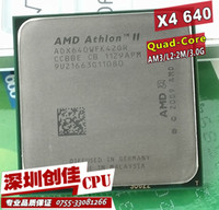 Wholesale Amd Athlon Ii X4 Am3 - Wholesale-Free shipping AMD Athlon II X4 640 3GHz AM3 938-pin Processor Dual-Core 2M Cache 45nm Desktop CPU scrattered pieces