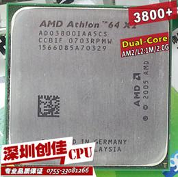 Wholesale Athlon 64 X2 Dual Core - Wholesale-Free shipping AMD Athlon 64 x2 3800+ 2.0Ghz 1MB Cache  AM2 socket 940 pin Dual core Desktop CPU processor scrattered pieces