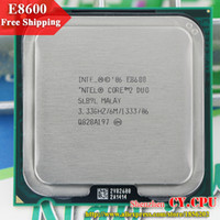 Wholesale Cpu Processors 775 - Wholesale-For Intel Core 2 Duo E8600 CPU Processor (3.33Ghz  6M  1333GHz) Socket 775 free shipping