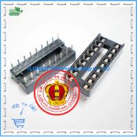 Wholesale Ic Socket Dip - Wholesale-Free shipping .DIP IC socket 18P IC Sockets DIP18 pin socket microarrays dual inline socket 18P