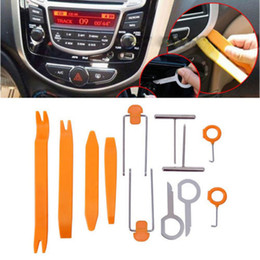 Wholesale Audio Removal Installer Pry Tool - Wholesale-Free shipping 12pcs Auto Car Radio Door Clip Panel Trim Dash Audio Removal Installer Pry Tool