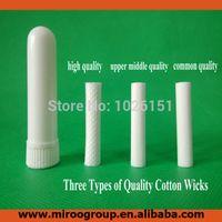 ароматерапевтические палочки оптовых-Wholesale-Free shipping 100 sets blank nasal inhaler aroma sticks, blank  nasal inhaler, nasal inhalers (Cotton Wicks 51mm)