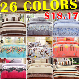 Wholesale Korean Duvet Set - Wholesale-2015 Korean Printing Bedding Set Fashion Bed Sheet   Duvet Cover   Pillowcase Winter Warm Cotton 4 Pcs Bed Set