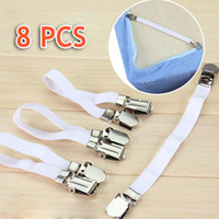 Wholesale Twin Bedspreads Wholesale - Wholesale-8 pcs Bedding bedspread bed sheet grippers buckle table cloth fitted device bed sheets clip slip-resistant belt elastic set