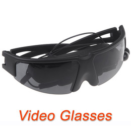Wholesale Iphone Video Eyewear - Wholesale-New Arrival!! Portable Eyewear virtual Video Glasses for Pod iPhone PMP Play games with PS2 PS3 XBOX Wii movies cenima