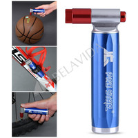 Wholesale Co2 Cycling - Wholesale-PRO STAR JG1024 Mini Pump CO2 Bicycle Cycling Pump America Mouth Blue Inflator Drop Shipping