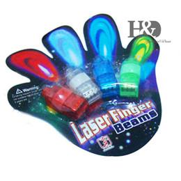 Wholesale Plastic Colour Ring - Wholesale-4PCS LED Finger Light Glowing Dazzle Colour Laser Emitting Finger Ring Beams Ring Torch Wedding Party Christmas Celebration