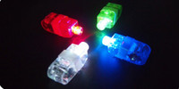 Wholesale Birthday Laser Lights - Wholesale-100 pcs lot led finger light 4 color laser finger lamp light for party. birthday,Chistmas decoration toy Free shipping TY01