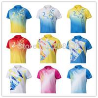 Wholesale Mens Tennis Clothing - Wholesale-badminton Clothes Mens Badminton Shirts Men Free shipping badminton tennis team uniform Best quality