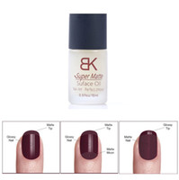 Wholesale Nail Polish Oil Matte - Wholesale-15ML Magic Super Matte Transfiguration Nail Polish Top Coat Frosted Surface Oil