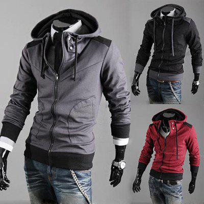 Stylish New Mens Boys Stylish Slim Zipper Hoodies Jackets Coats Men