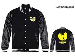 Wholesale Discount Coat Men - Wu tang baseball jackets for men fashion hip-hop mens coats free shipping new discount Wu tang clothing hip hop jackets