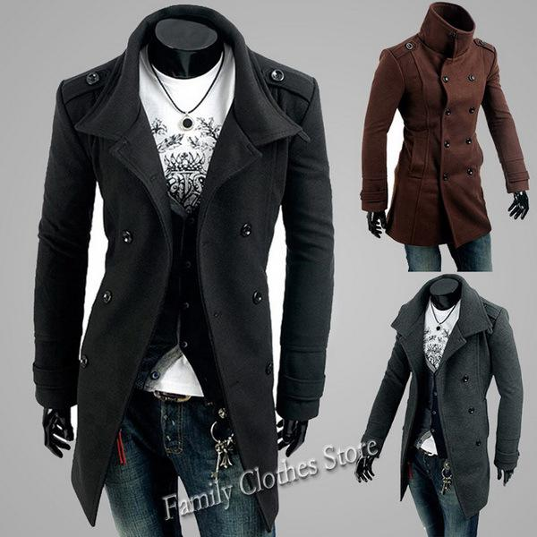 Men's Trench Coats Wholesaler Rebecco Sells Hot New Black/Gray ...