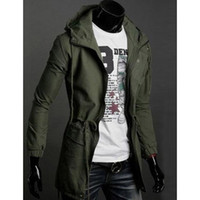Wholesale New Trendy Clothes - New section Trendy Long Jacket military coat for men Hoodies men's clothing loose