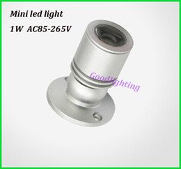 Wholesale 1w Led Spot Lights - Wholesale-1W 3W led spot light mini led downlight 10pcs lot AC85-265V white or warm white cabinet led light RoHS CE