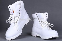 Wholesale Cheap Heels For Winter - Wholesale-Cheap White Winter Boots For Men 2015 New Ankle Waterproof Snow Boots Women Genuine Leather Work Boots