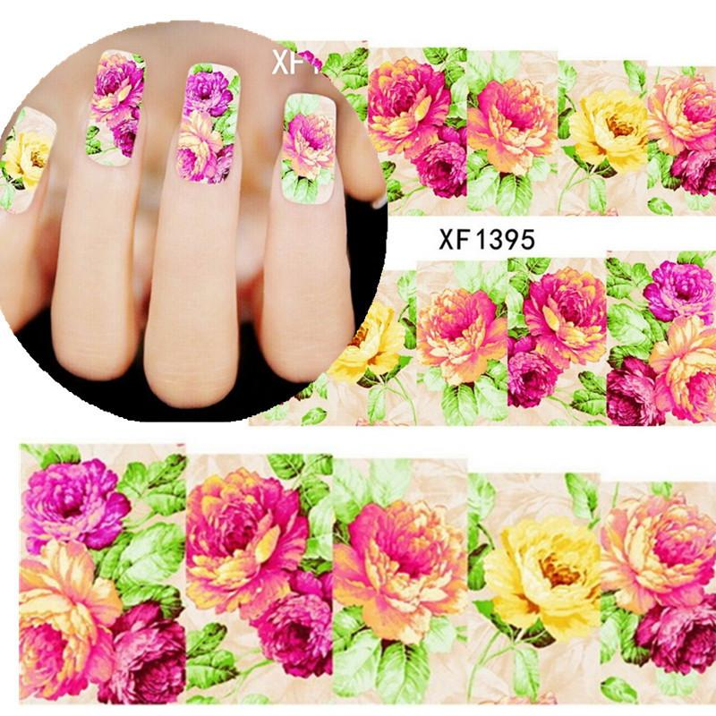 Wholesale 1sheets new flower nail art decorations diy water see larger image prinsesfo Gallery