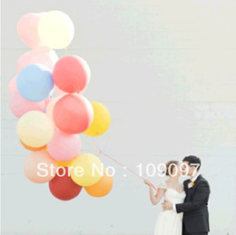 Wholesale Large Balloons Latex - Wholesale-Free Shipping 50 Pcs Lot 18 Inches Multicolor Balloon Birthday Party Decorations Kids Latex Balloons Large