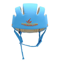 Wholesale Helmet Gear - Wholesale-XP Protective Hat Gear Unisex Baby Toddler Hat Safety Helmet Headguard Adjustable Children Hats Cap Harnesses Gift 3 Colors