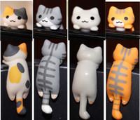 Wholesale Kpop Earphones - Wholesale-wholesale kpop kawaii original quality Chi's cat Anti dust plug for cell phone xiaomi iphone6 cute anime ear jack earphone cap