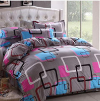 Wholesale Korean Bedspreads - Wholesale-21Designs Promotion 2015 Korean Polyester   Cotton( Reactive printed cover Bedding sheet bedspread pillowcase queen bed sets