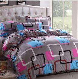 Wholesale Korean Bedspreads - Wholesale-21Designs Promotion 2015 Korean Polyester   Cotton( Reactive printed cover Bedding sheet bedspread pillowcase queen bed sets
