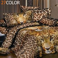 Wholesale Cheap 3d Quilts - Wholesale-New Arrival 3D Animals Pastoral Cheap Cotton Bedclothes Quilt   duvet Cover Sets Double Bed 4pcs   Bedding Set King Size