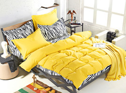 Wholesale Zebra Bedding Twin - Wholesale-New design, solid colors and zebra pattern design,3 4 pcs bedding sets bed sheet bedspread duvet cover flat sheet  pillowcases