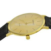 человек смотрит новый дизайн оптовых-Wholesale-2015 New Design Fashion Simple Concise Thin Watch Men  Gold Quartz Watch Wristwatch BAISHUNS 3118 relojes para hombre