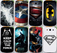 Wholesale S3 Superman - Wholesale-COOL Batmen BAT MAN SuperMen America Caption hard back cover case For Samsung galaxy s3 i9300 mobile phone case freeshipping