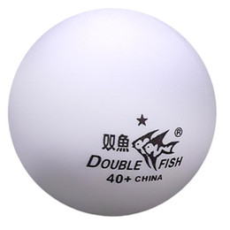 Wholesale Free Shipping, 18x Double Fish 40+ (New Materials) 1 Star (1  Star, 1Star) White Table Tennis (Ping Pong) Balls