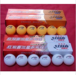 Wholesale Table Tennis Balls Quality - Wholesale-Double happiness table tennis ball DHS table tennis ball for 3 star 6pcs white or yellow quality table tennis ball
