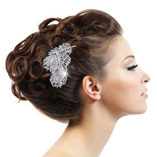 wholesale vintage style wedding bridal hair comb wedding hair accessories crystal hiar comb peacock