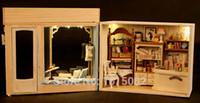 ingrosso giocattoli diy craft-All'ingrosso-Fai-da-te argilla casa delle bambole 3D puzzle modello di casa delle bambole giocattoli, assemblato Model Building Savile Row sarti creativo regalo di compleanno DH54