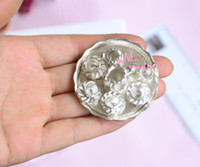 Wholesale Miniature Dollhouse Plates - Wholesale-Free Shipping~SILVER META Dinnerware Coffee Cup Plate SET 1:12 Dollhouse Miniature DM23
