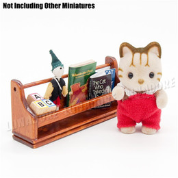 Wholesale Wood Toys Furniture Doll House - Wholesale-Dollhouse Miniatures 1 12 Mini Muppet Magazine Doll houses Set Fit Re-ment Orcara Miniature Toys Dolls Accessories Toy Furniture