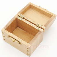 Wholesale Wholesale Miniature Wood House - Wholesale-1 12 Dollhouse Miniature Treasure Chest Vintage Leather Case Box Wooden Miniatures Doll Houses Accessories