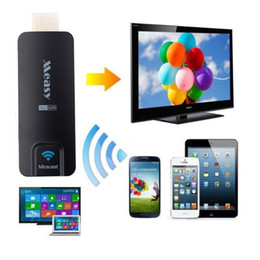 Wholesale Measy Wifi Dongle - Wholesale-Measy TV Stick A2W Chromecast Miracast DLNA Airplay WiFi HDMI 1080P Multi-media TV Dongle for Smartphone Tablet PC Laptop