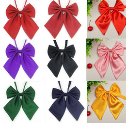 Wholesale Ladies Ascot Tie - Wholesale-Free Shipping 2015 Fashion Women Ladies Girls Style Bow Knot Neck Tie Cravat Casual Party Banquet Ties